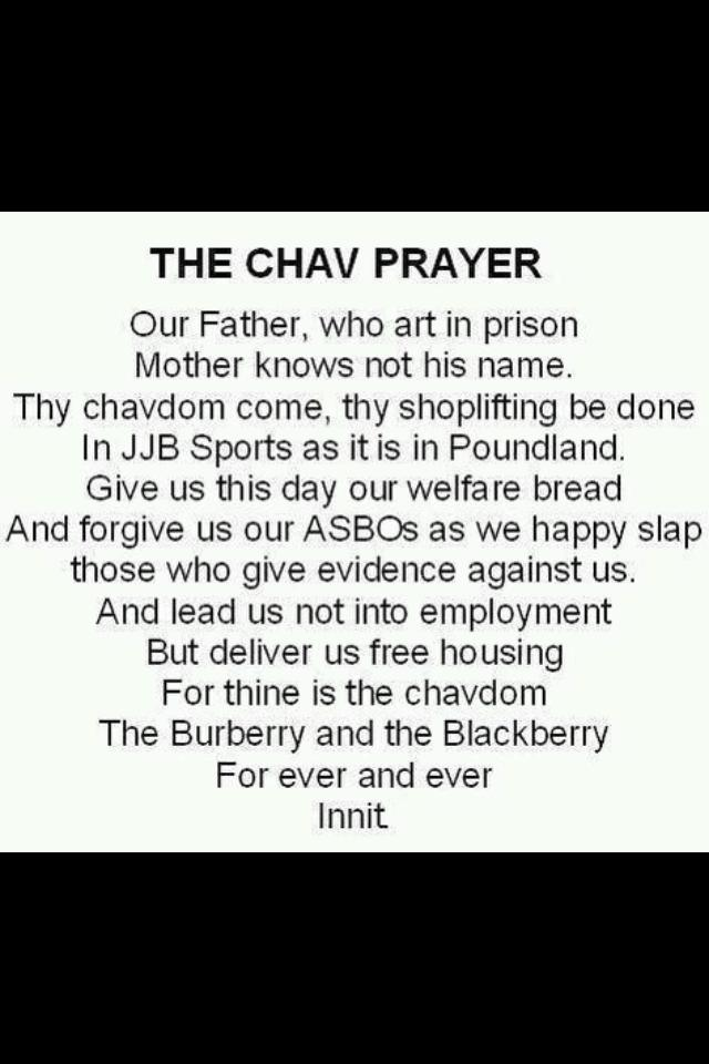Chav Lords Prayer  You Only Live Once-5411